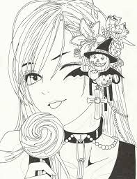 Seasonal Colouring Pages Rosario Vampire Coloring