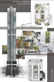 office building blueprints. Design 8 / Proposed Corporate Office Building High-rise Architectural Layouts Blueprints