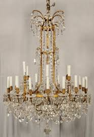 19th century french 24 light signed baccarat gilt bronze and crystal chandelier