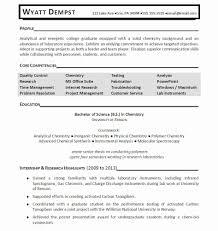 Analytical Chemist Resume Chemistry Resume Format Awesome Analytical Chemist Resume Format