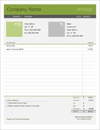 Free Excel Invoice Simple Invoice Template For Excel Free