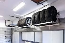 wall mounted tire rack tire overhead garage storage wall mount tire rack