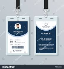 Clean Modern Employee Id Card Design Stock Vector Royalty