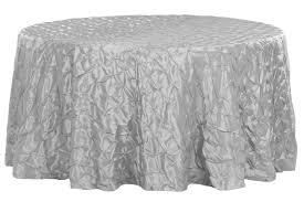 132 pinchwheel round tablecloth silver