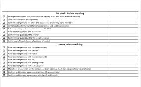 Wedding Checklist Excel Free Template Download Pdf