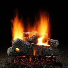 hargrove 18 inch classic oak vented natural gas log set for perfect gas fireplace logs