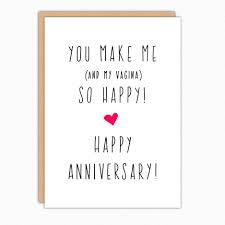 Anniversary Card Funny Anniversary Card For Boyfriend Anniversary Card For Husband Naughty Anniversary You Make Me So Happy 173