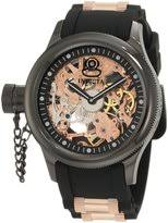left handed watches shopstyle invicta men s 1847 russian diver left handed mechanical dial black polyurethane watch