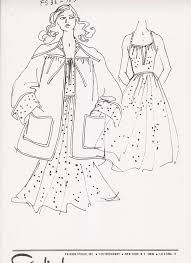 pioneer woman clothing drawing. fashion clothing sketch 1960s from cardinal studio inc., new york, ny pioneer woman drawing a