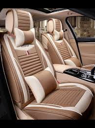 Buy Car <b>Seat</b> Covers For 5-<b>Seat</b> Cars Breathable Linen Buckwheat ...