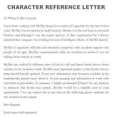 Letter Of Recommendation For A Business Template Reference Letter 10 Reference Letters Character