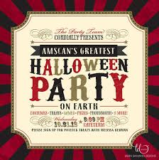 award winning bespoke event stationery company branding holiday amscan 2012 halloween party invitation