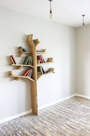 Oak Tree Bookshelf high by wide - Made to Order in five Solid Oak Finishes