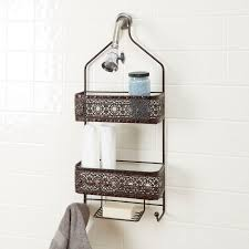 oil rubbed bronze bathroom accessories. Magnolia Bathroom Collection Two Shelf Shower Caddy With Soap Holder, Oil Rubbed Bronze Accessories T