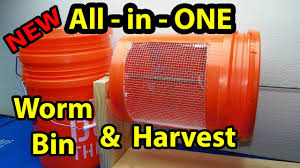 worm bin diy all in one easy composting harvesting casting part 1