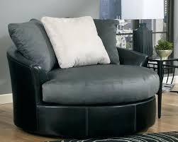grey swivel cuddle chair round