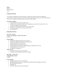Project Manager Resume Free Construction Project Manager Resume Template Sample Ms Word 100