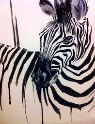 zebra oil on canvas not completely sure where i am taking this just yet