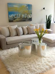 best beige flokati rug decor with sofa and pillow for living room charming your home interior