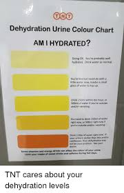 Ton T Dehydration Urine Colour Chart Ami Hydrated Doing Ok