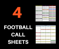 4 Football Call Sheets Free To Download And Print Pro