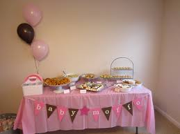 Life Love And Marathons Pink Brown Baby Shower The Other Table Had Desserts  Which Included Cupcakes Baby Nursery