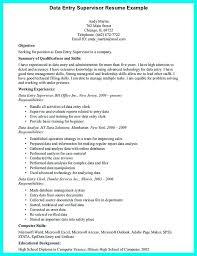 Job Description For Data Entry For Resume Last Update Entry Clerk