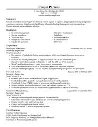 ... Warehouse Supervisor Resume Sample 7 Production Resume Template  Templates And Builder Inventory Samples ...