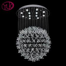 youlaike modern crystal chandelier luxury living room hanging chandeliers lighting led res de cristal
