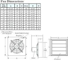 Fan Size Chart What Size Exhaust Fan For Bathroom Corbannews Co