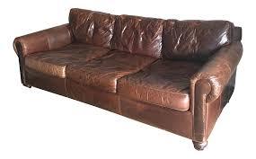 amusing restoration hardware original lancaster leather sofa chairish of