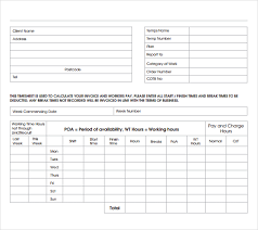 Service Invoice For Freelancers Invoice Template For Hours Worked