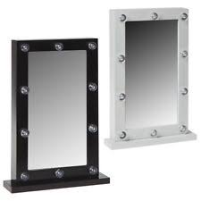table mirror with lights. led lights dressing room hollywood table mirror - white or black 31cm 50cm with s