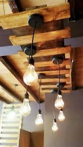 pallet chandelier