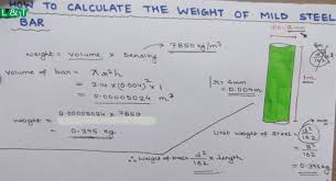 How To Calculate Weight Of Mild Steel Bar In 2019 Civil