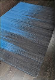 turkish modern blue flatweave wool rug 19065
