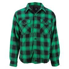 Green And Black Design Brandit Lumber Jacket Checked Green Black Brandit Lumber Jacket