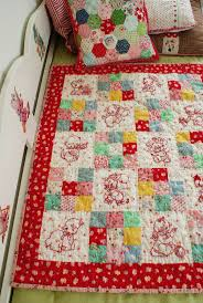 Best 25+ Embroidered quilts ideas on Pinterest | Quilting, Baby ... & Vintage redwork feedsack quilt - inspiration for my embroidered squares! Adamdwight.com