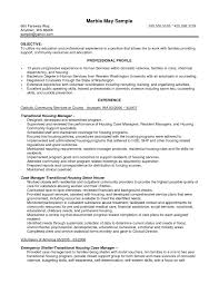 Human Services Resume Samples Resume Objective For Human Services Unique Case Manager Resume 29