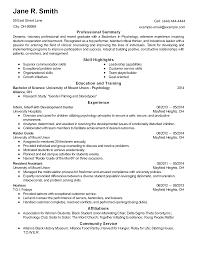 Download Psychology Resume Haadyaooverbayresort Com
