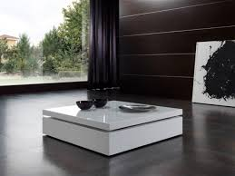 coffee table contemporary coffee table in white or black high gloss finish with elevating glass
