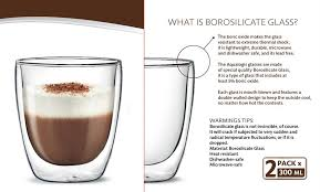 aqualogis bodum delonghi double wall thermal cappuccino glass 300ml pack of 2