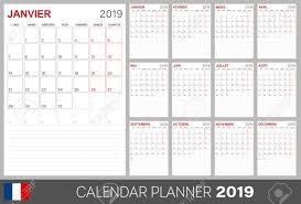 Callendar Planner French Calendar 2019 French Calendar Planner 2019 Week Of Monday