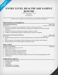 Entry Level Healthcare Resume Example Httpresumecompanion Com