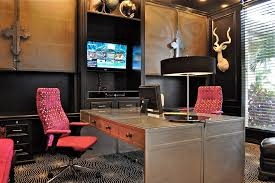 trendy custom built home office furniture. Double Sided Desk Home Office Contemporary With Area Rug Black Painted Trendy Custom Built Furniture