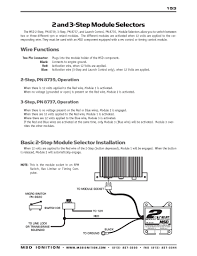 msd ignition wiring diagrams msd 2 and 3 step module selectors