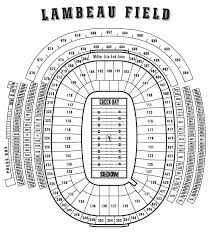 Lambeau Field Seating Chart Lambeau Field Green Bay Wi Seating Charts Page
