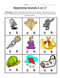 See our extensive collection of esl phonics materials for all levels, including word lists, sentences, reading passages, activities, and worksheets! Circle Beginning Sounds K C Worksheet Have Fun Teaching