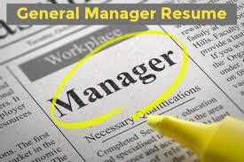Sample General Manager Resume General Manager Resume Sample