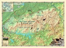 great smoky mountains national park wall map  mapscom